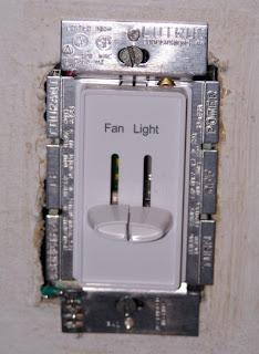 the fan/light switch