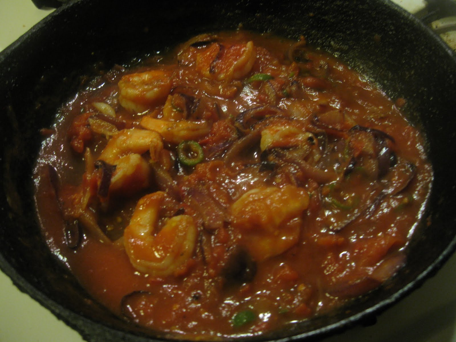 how to cook tomato sauce prawn