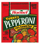 low calorie turkey pepperoni