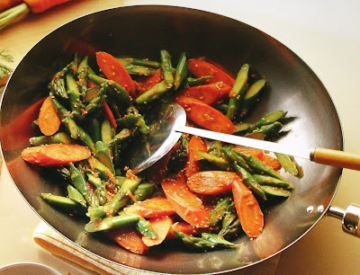 Sesame Asparagus and Carrot Stir-Fry