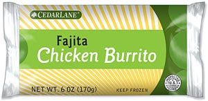 Cedar Lane Fajita Chicken Burrito