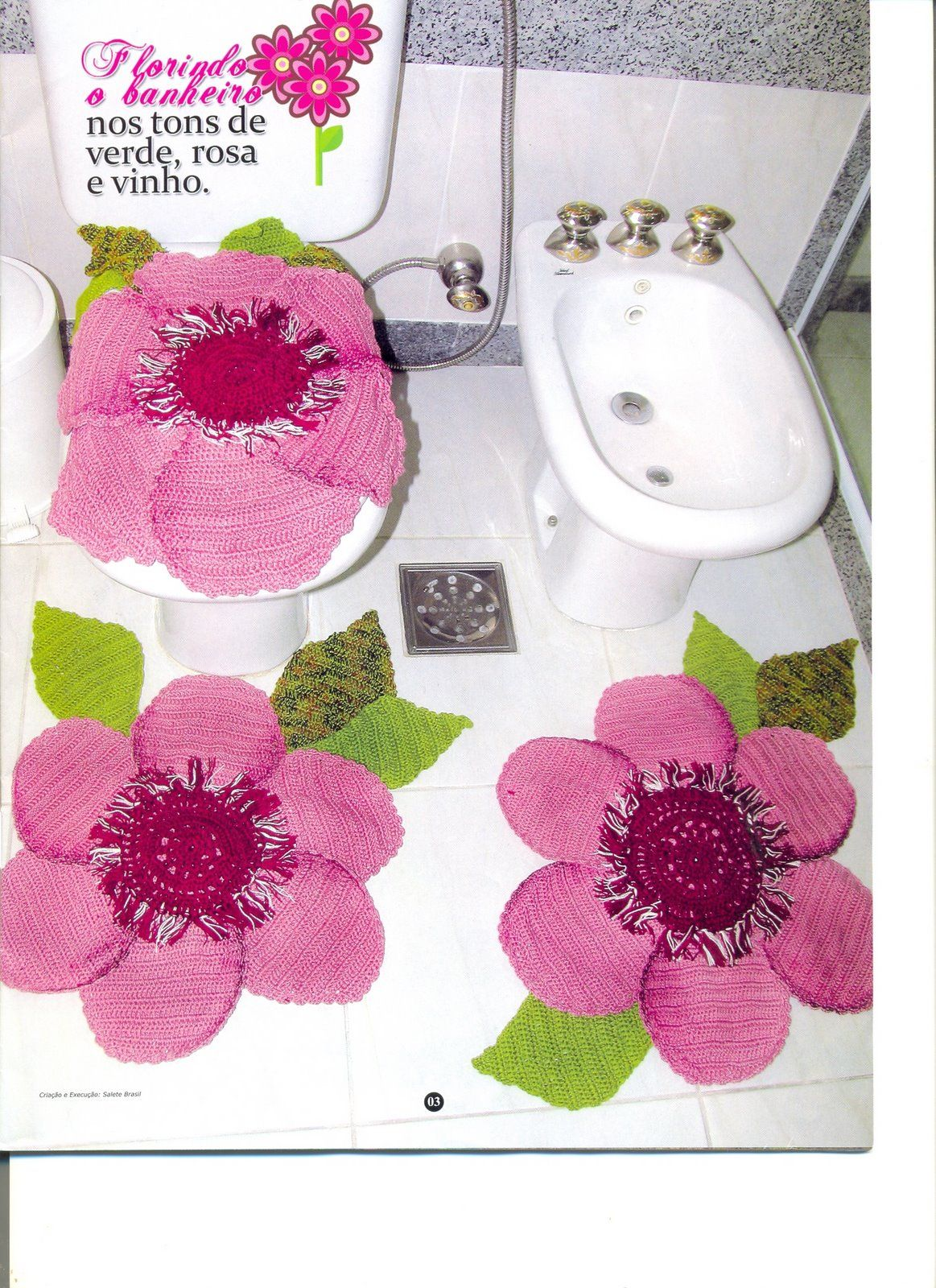 Wanda Arte em Crochê: Jogos de Banheiro #820E42 1163 1600