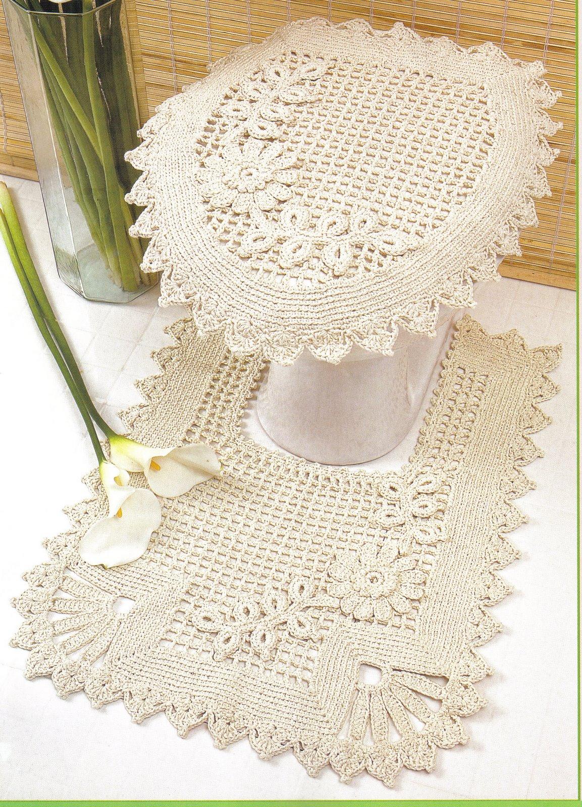Wanda Arte em Crochê: Jogos de Banheiro #6D9932 1153 1600