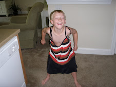 Josh being silly, wearing my bathing suit