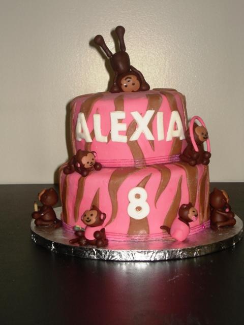 pink and white zebra cake. pink and white zebra cake. pink and white zebra cake.