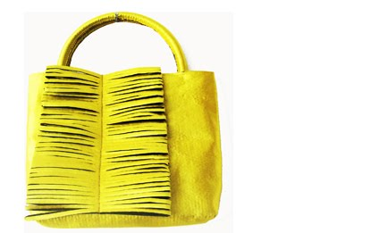 100 handbag amarillo