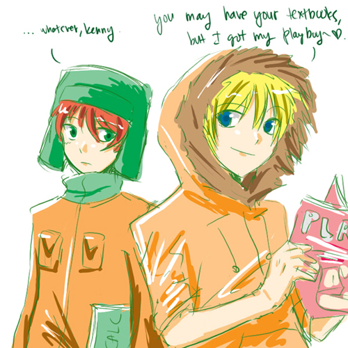 South Park Anime Kenny X Kyle What can i say?