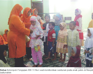 Semarang Utara, memberikan santunan kepada 22 anak yatim piatu dan