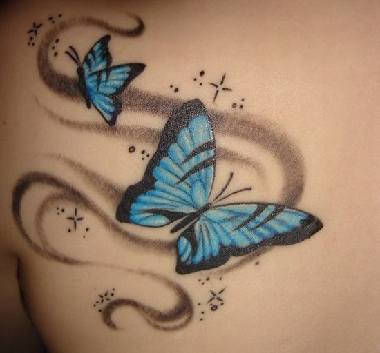 butterfly tattoo pictures. utterfly tattoo art. lower