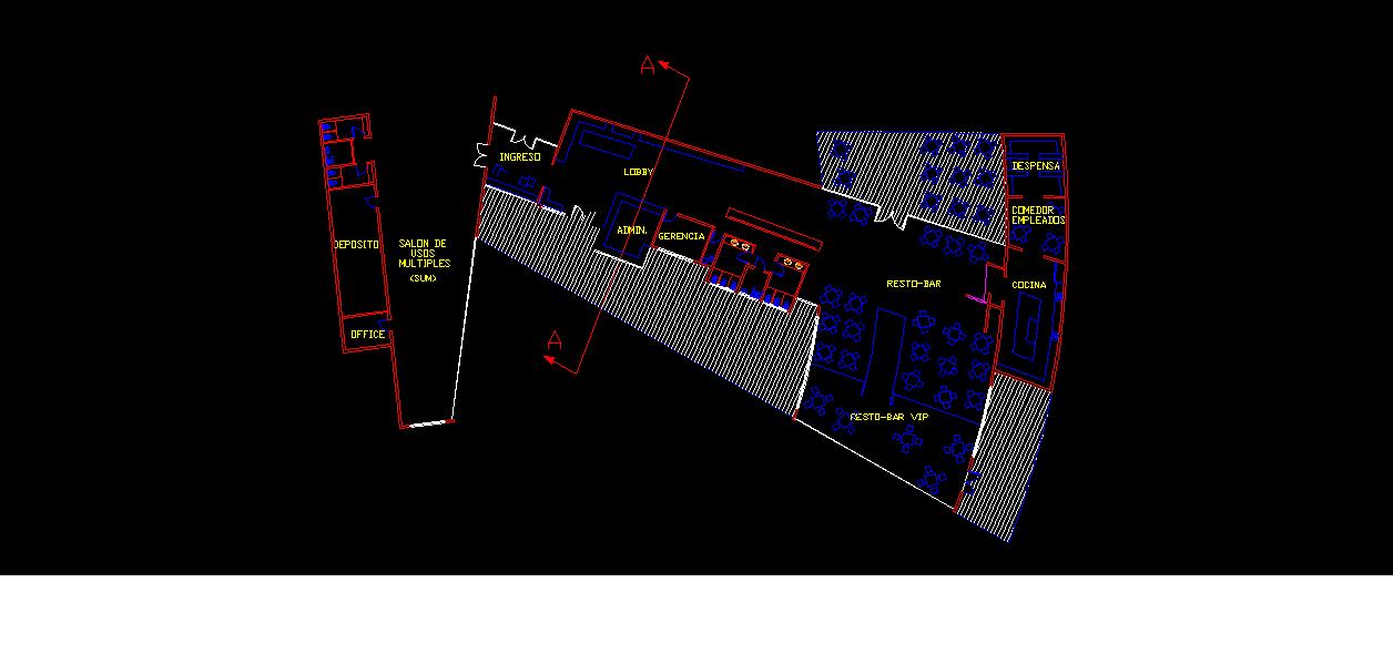 Bio design hotel resto bar planta de arquitectura for Bio design hotel