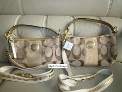 COACH SIGNATURE STRIPE DEMI CROSSBODY 15111