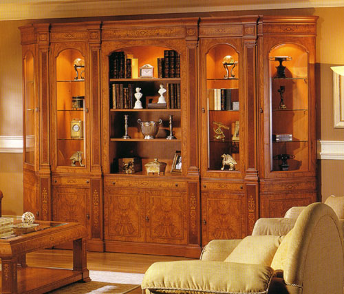 Antique italian classic furniture wall unit furniture design - Dining room showcase designs ...