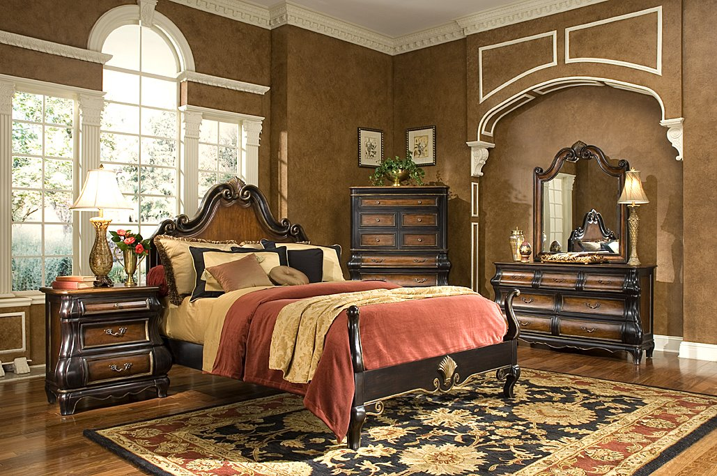 Victorian style classic bed room french design for Antique style bedroom ideas