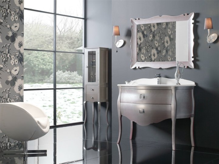 Ultra-luxury-marvelous-bathroom-with-silver-amazing-bathroom-vanity-with-cool-mirror-cabinets-and-comfortable-chair