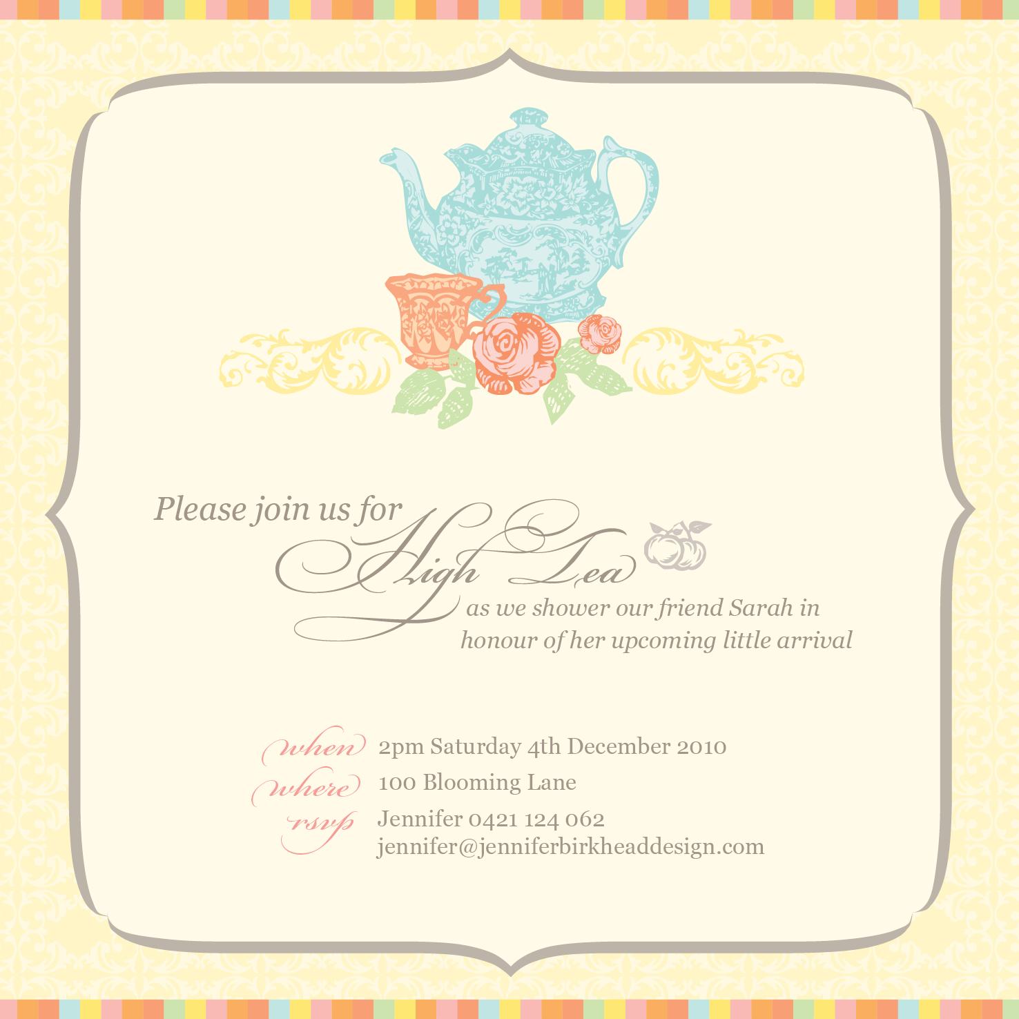 jenniferbirkheaddesign High Tea baby shower