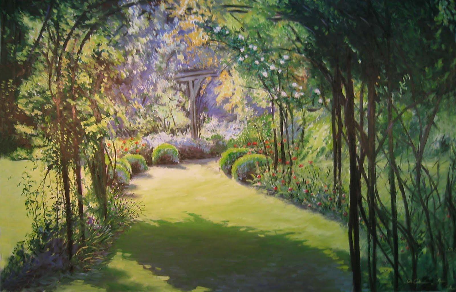 Jardim do Éden  80×120  óleo sobre tela