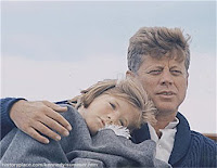 Caroline Kennedy with her father, John F. Kennedy