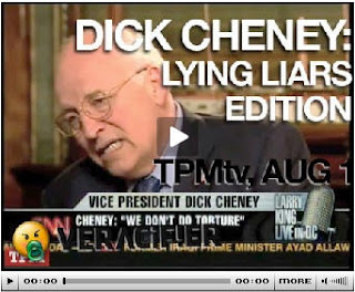 Cheney's pants on fire