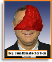 Rep Dana Rohrabacher with panties on the brain
