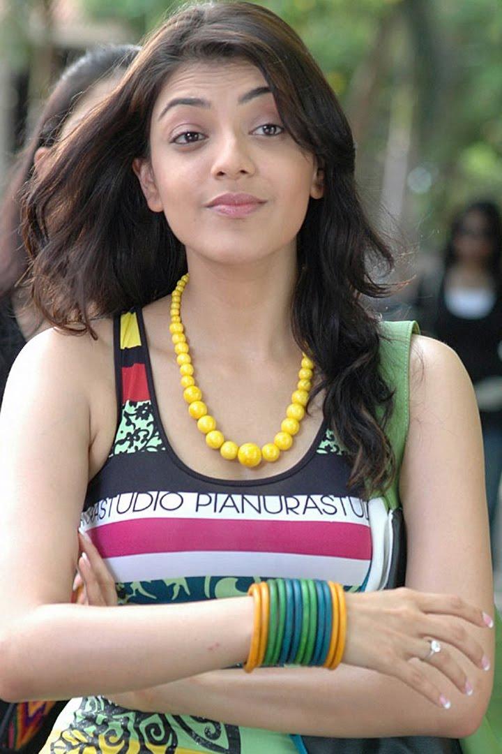 Kajal agarwal in modern dress inside college campus hot desi actress