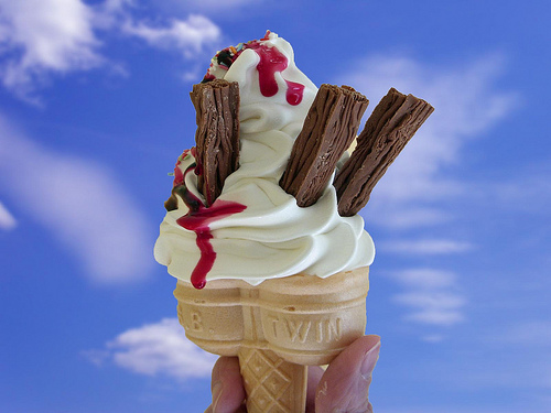 An Ice Cream Served In A Cone With Flake 99 Is The UKs Favourite Days Of Monarchy Italy King Had Elite Guard Consisting