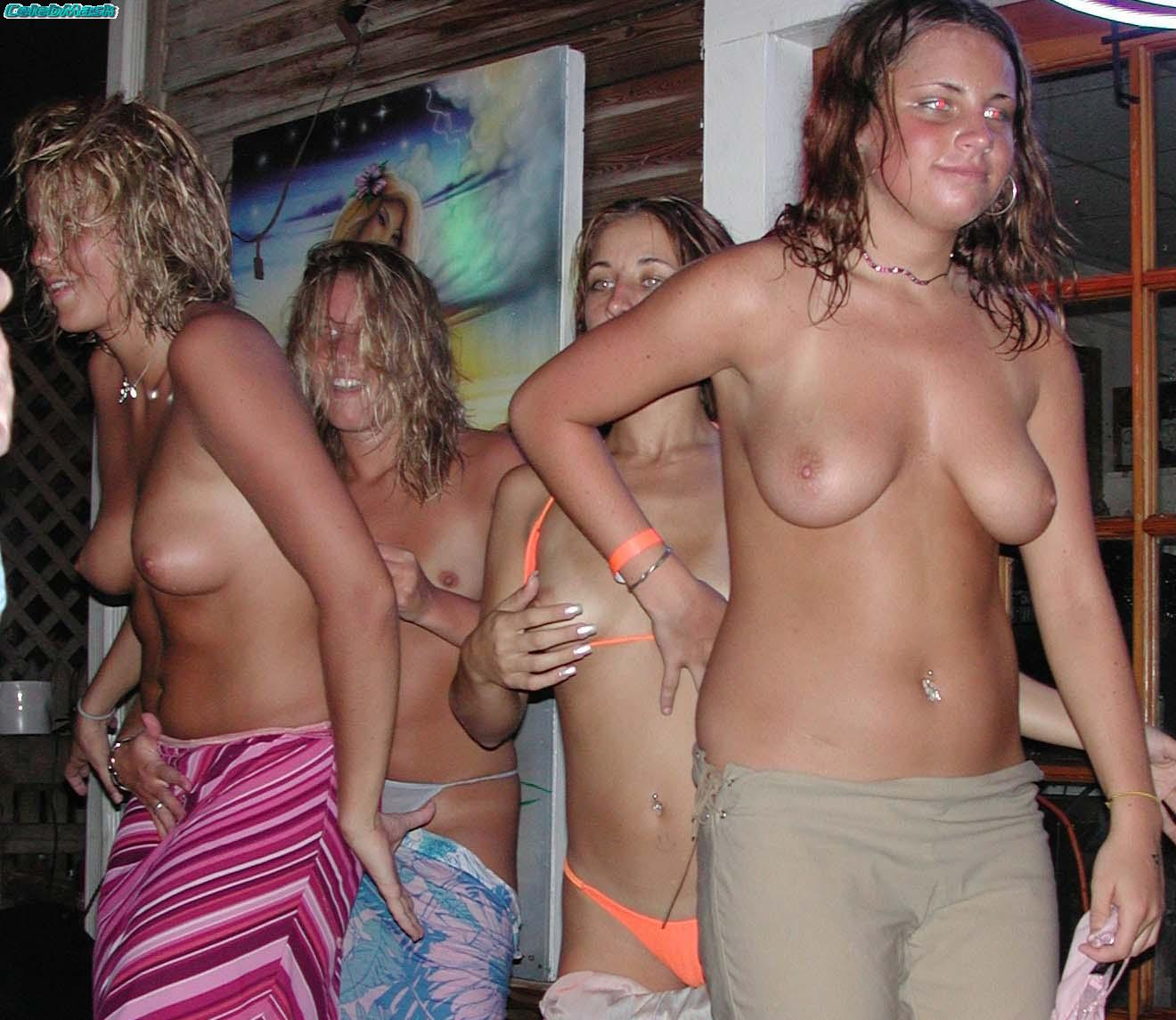 topless girls party