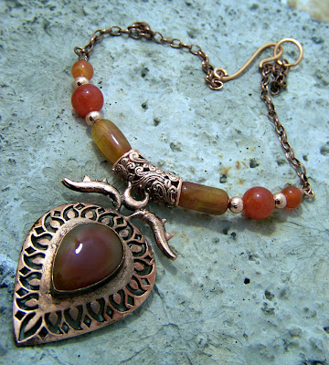 Big Copper Carnelian Pendant