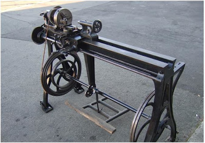 JP Antique Treadle Lathe