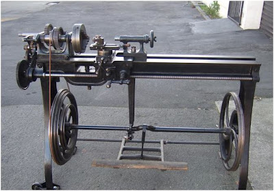 Antique Treadle Lathe