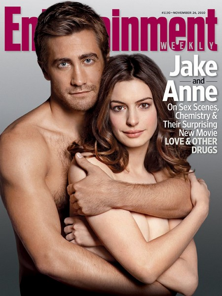 [MAGAZINE COVER] Anne Hathaway & Jake Gyllenhaal (Entertainment Weekly)