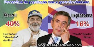 Talvez o otimismo do brasileiro seja genético.