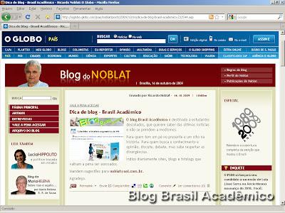 Blog do Noblat indica o Brasil Acadêmico