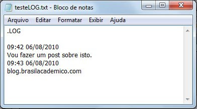 Dica do Notepad