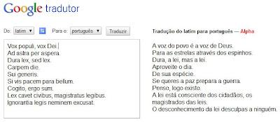 Tradução do latim para o português