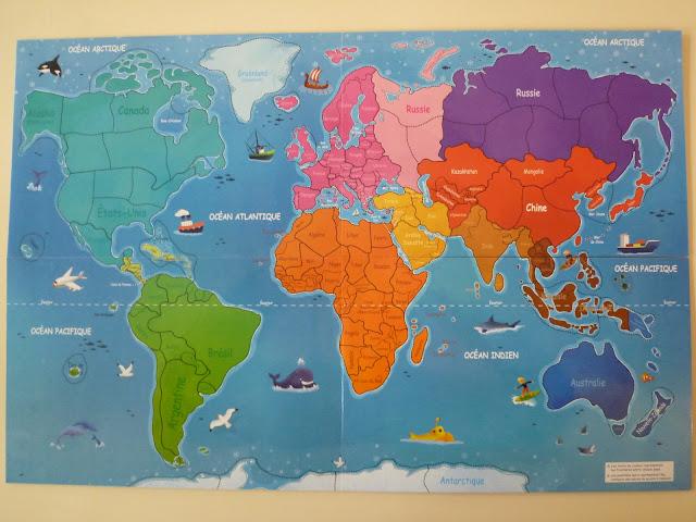Le blog de cathnounourse mon premier atlas jouer for Planisphere pour enfant