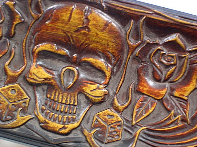 renowned airbrush artist mathewson has created a line of mouldings that just plain rock skulls tiki carvings bamboo tattoo designs gambling motifs and