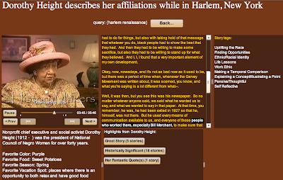 Screenshot of Height interview