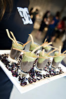 Blackbean+and+Watercress+Cilatntro+Shooter+with+Tortilla+Strips catering san diego wedding catering