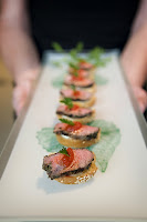 Seared+Organic+Sirloin+with+Roasted+Peppers+and+Boursin catering san diego wedding catering