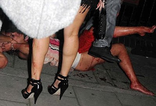 Danielle Lloyd attacked Nightclub nude