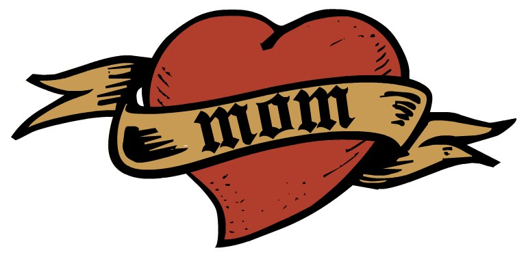 "This ""Mom"" tattoo clip art is just in time for Mother's Day."