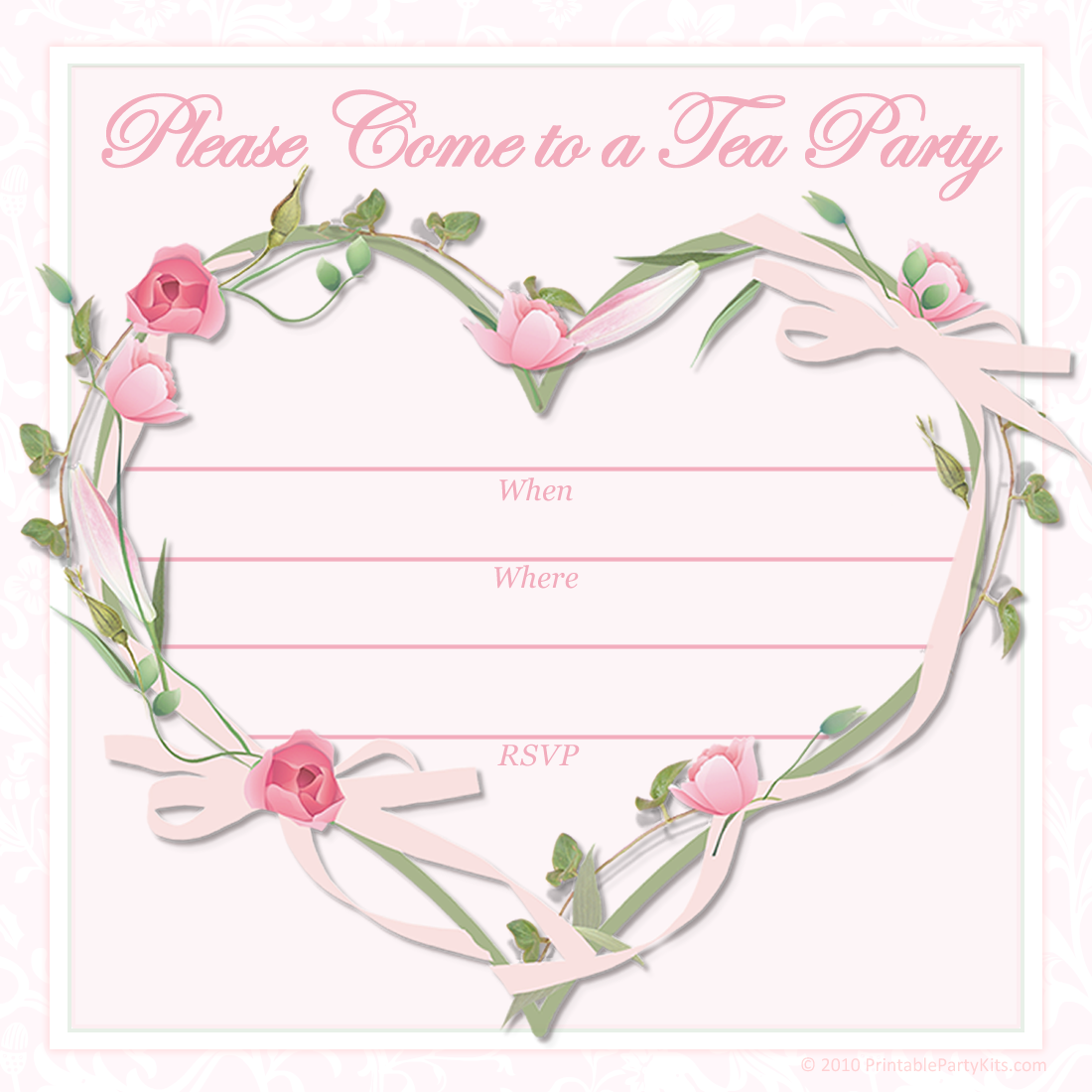 Click on the tea party invitation template to see it full size and ...