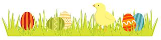 Easter scrapbook supplies -- little chick scrapbook border