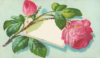 free wedding and Mother's Day vintage rose scrapbook embellishment