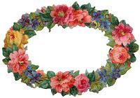 horizontal vintage flower border scrapbook embellishment