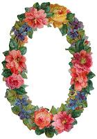 vertical vintage flower border scrapbook embellishment