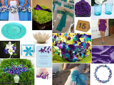 And my tropical turquoise inspired wedding board