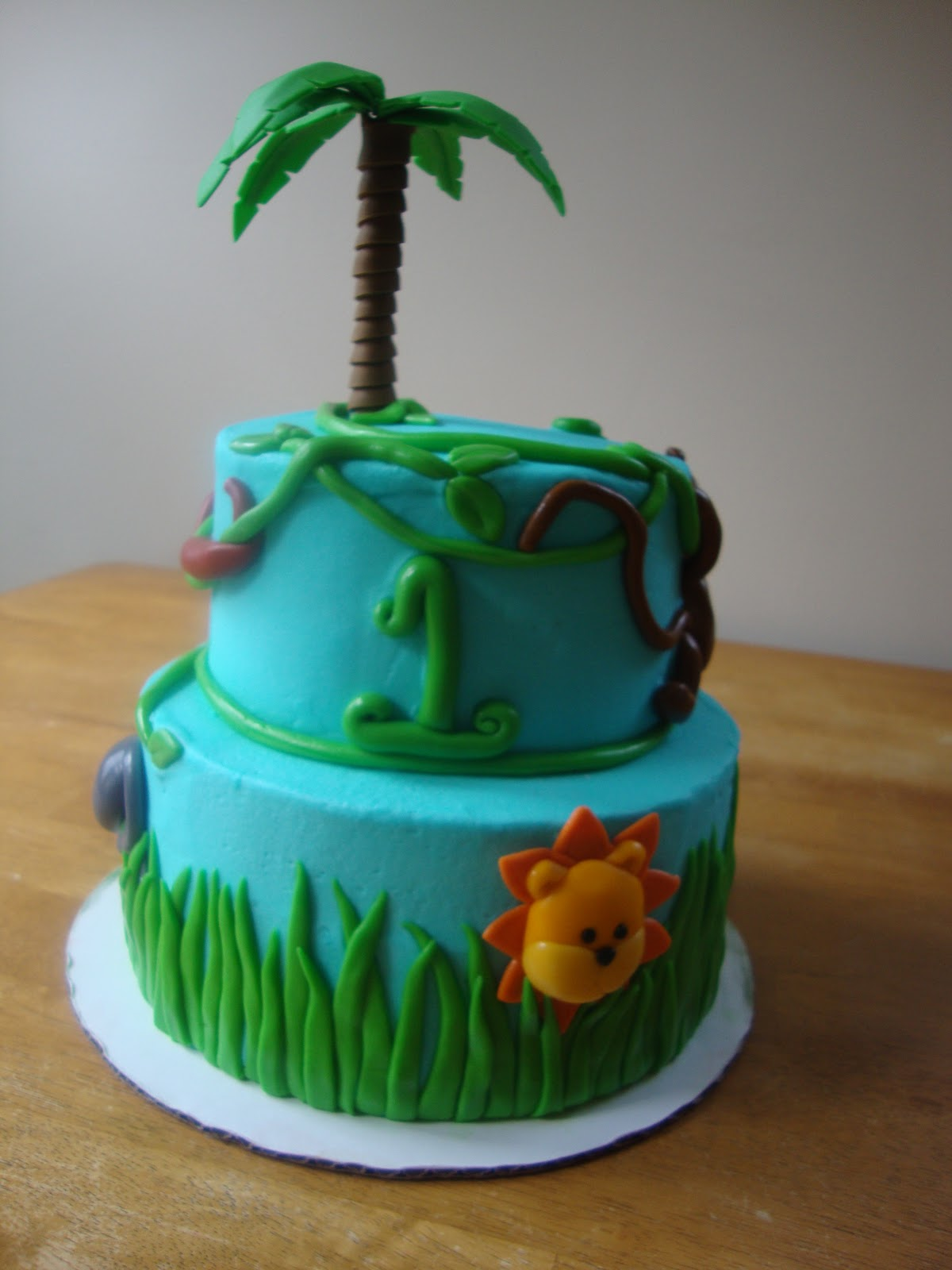 Whimsy Girls Cakes 1st Birthday Jungle Cake