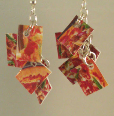Pizza Mini Take Credit Earrings