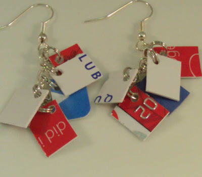 Red, White and Blue Mini Take Credit Earrings